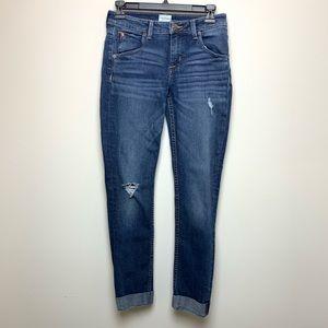 HUDSON Bacara crop straight cuffed jeans. Sz 26